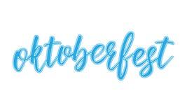 Εγγραφή Oktoberfest Στοκ φωτογραφία με δικαίωμα ελεύθερης χρήσης