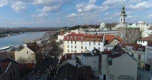 Εγγύτητα του καθεδρικού ναού του ST Michael, Βελιγράδι, εναέρια άποψη απόθεμα βίντεο