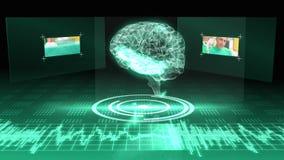 Εγκέφαλος γραφικός με τη διεπαφή με τους συνδετήρες χειρουργικών επεμβάσεων φιλμ μικρού μήκους