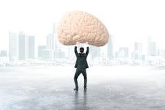 Εγκέφαλος εκμετάλλευσης επιχειρηματιών Στοκ φωτογραφία με δικαίωμα ελεύθερης χρήσης