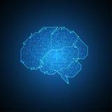 εγκέφαλος ηλεκτρονικός Στοκ Εικόνα