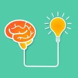 Εγκέφαλος και ιδέα Στοκ φωτογραφία με δικαίωμα ελεύθερης χρήσης