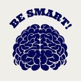 Εγκέφαλος και σημάδι μανδρών σφαιρών διανυσματική απεικόνιση