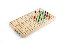 Εγκέφαλος - ξύλινο παιχνίδι πειρακτηρίων εγκεφάλου - που απομονώνεται στο λευκό Στοκ Εικόνα