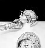 Εγκέφαλος - τα αποτελέσματα του εγκιβωτισμού Στοκ φωτογραφία με δικαίωμα ελεύθερης χρήσης