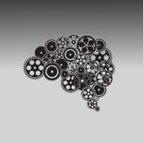 Εγκέφαλος τεχνολογίας Δημιουργημένος από το εργαλείο Στοκ Φωτογραφία