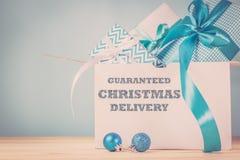 Εγκαίρως έννοια παράδοσης Χριστουγέννων Στοκ Φωτογραφία