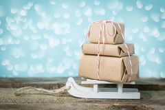 Εγκαίρως έννοια παράδοσης Χριστουγέννων Στοκ εικόνα με δικαίωμα ελεύθερης χρήσης