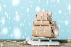 Εγκαίρως έννοια παράδοσης Χριστουγέννων Στοκ Εικόνες