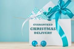 Εγκαίρως έννοια παράδοσης Χριστουγέννων Στοκ φωτογραφία με δικαίωμα ελεύθερης χρήσης