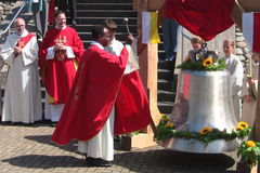 22 07 εγκαινίαση κουδουνιών του 2012 σε baden-Baden στην εκκλησία εθνικών οδών Στοκ Εικόνες