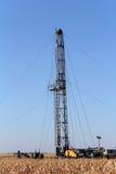 Εγκατάσταση γεώτρησης γεώτρησης πετρελαίου Στοκ Φωτογραφίες