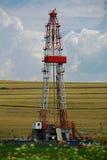 Εγκατάσταση γεώτρησης διατρήσεων αερίου σχιστόλιθου στοκ φωτογραφία