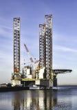 Εγκατάσταση γεώτρησης παράκτιων διατρήσεων Esbjerg στο λιμάνι, Δανία Στοκ Φωτογραφία