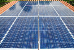 Εγκατάσταση ηλιακού πλαισίου Στοκ Εικόνες