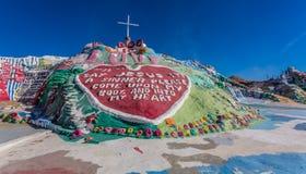 Εγκατάσταση τέχνης βουνών σωτηρίας Στοκ φωτογραφίες με δικαίωμα ελεύθερης χρήσης
