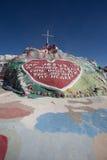 Εγκατάσταση τέχνης ξένων βουνών σωτηρίας Στοκ Φωτογραφίες
