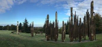 Εγκατάσταση τέχνης πανοράματος από Nuburi Toko σε Burnaby, Καναδάς στοκ εικόνα