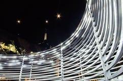 Εγκατάσταση τέχνης στην ομοσπονδία τετραγωνική Μελβούρνη στοκ εικόνα