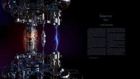 Εγκατάσταση υψηλής τεχνολογίας έννοιας τεχνολογίας τρισδιάστατη απεικόνιση διανυσματική απεικόνιση