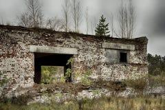 Εγκαταλειμμένα αποθήκη εμπορευμάτων και βιομηχανικά κτήρια και κτήρια Στοκ Εικόνες