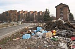 εγκαταλειμμένα απορρίμα&t Στοκ Φωτογραφίες