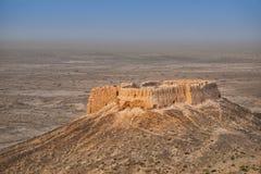 Εγκαταλειμμένες καταστροφές του οχυρού Ayaz Kala #2, Ουζμπεκιστάν Στοκ εικόνες με δικαίωμα ελεύθερης χρήσης
