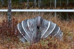 εγκαταλειμμένη βάρκα Στοκ Εικόνες