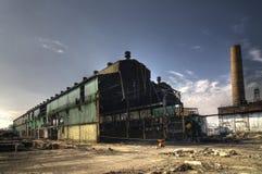 εγκαταλειμμένη βιομηχανική αποθήκη εμπορευμάτων Στοκ εικόνα με δικαίωμα ελεύθερης χρήσης