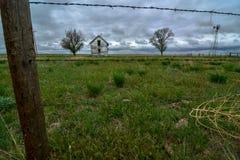 Εγκαταλειμμένη ιδιοκτησία στο ανατολικό Κολοράντο στοκ εικόνα