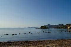 Εγκαταλειμμένη παραλία Κέρκυρα, Ελλάδα Στοκ Εικόνες