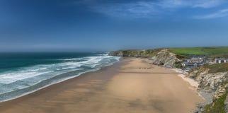 Εγκαταλειμμένη παραλία, κόλπος γουότερ γκέιτ, Κορνουάλλη στοκ φωτογραφία με δικαίωμα ελεύθερης χρήσης