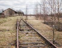 Εγκαταλειμμένος δρόμος ραγών Στοκ εικόνα με δικαίωμα ελεύθερης χρήσης