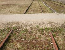 Εγκαταλειμμένος δρόμος ραγών Στοκ Εικόνες