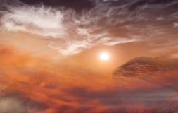 Εγκαταλειμμένος επίγειος πλανήτης Αποκάλυψη φαντασίας Στοκ φωτογραφία με δικαίωμα ελεύθερης χρήσης