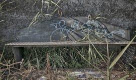 Εγκαταλειμμένος πάγκος Στοκ Φωτογραφίες