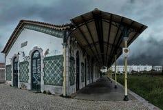 Εγκαταλειμμένος παλαιός σιδηροδρομικός σταθμός στο Λάγος Πορτογαλία Στοκ εικόνες με δικαίωμα ελεύθερης χρήσης