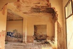Εγκαταλειμμένος σιδηροδρομικός σταθμός στο Albacete στοκ φωτογραφίες