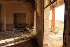 Εγκαταλειμμένος σιδηροδρομικός σταθμός στο Albacete στοκ εικόνα με δικαίωμα ελεύθερης χρήσης