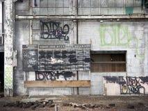 εγκαταλειμμένος τοίχο&sigm Στοκ εικόνα με δικαίωμα ελεύθερης χρήσης