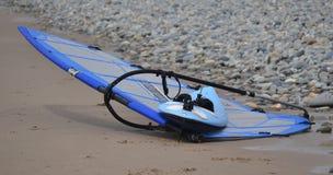 Εγκαταλειμμένος windsurfer Στοκ Εικόνες