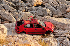 εγκαταλειμμένο αυτοκίνητο Στοκ Εικόνες