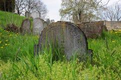 Εγκαταλειμμένο εβραϊκό νεκροταφείο στοκ εικόνα