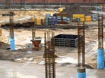 Εγκαταλειμμένο εργοτάξιο οικοδομής Στοκ φωτογραφία με δικαίωμα ελεύθερης χρήσης