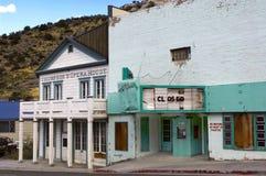 Εγκαταλειμμένο θέατρο πολύτιμων λίθων στην πόλη μεταλλείας, Pioche, Νεβάδα στοκ εικόνες με δικαίωμα ελεύθερης χρήσης