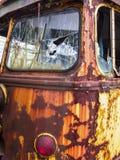 Εγκαταλειμμένο καροτσακιών παράθυρο οδηγών γωνιών αυτοκινήτων μπροστινό Στοκ Εικόνες
