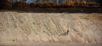 Εγκαταλειμμένο κοίλωμα αμμοχάλικου - μοτοκρός 4 Στοκ Φωτογραφίες