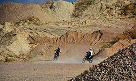 Εγκαταλειμμένο κοίλωμα αμμοχάλικου - μοτοκρός Στοκ εικόνα με δικαίωμα ελεύθερης χρήσης