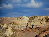 Εγκαταλειμμένο κοίλωμα αμμοχάλικου - μοτοκρός 2 Στοκ εικόνες με δικαίωμα ελεύθερης χρήσης