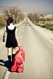 εγκαταλειμμένο κορίτσι Στοκ Φωτογραφίες